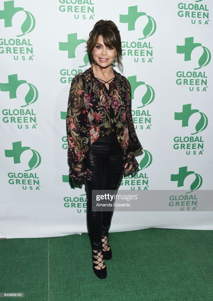 Singer Paula Abdul arrives at the 14th Annual Global Green Pre-Oscar Gala at TAO Hollywood on February 22, 2017 in Los Angeles, California.