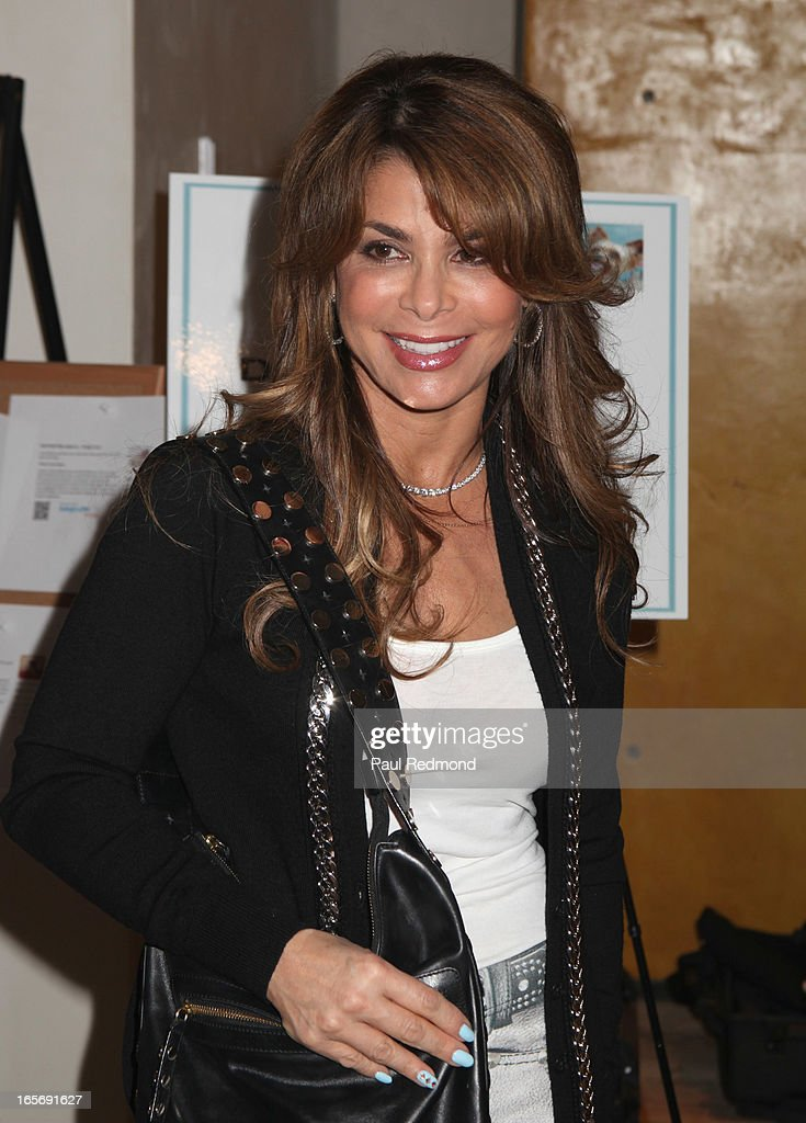 Singer Paula Abdul attends 'A Letter To My Dog: Notes To Our Best Friends' cocktail party and book signing at Anthropologie on April 4, 2013 in Beverly Hills, California.
