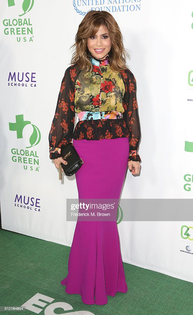 Singer Paula Abdul attends the Global Green USA's 13th Annual Pre-Oscar Party at the Mr. C Beverly Hills Hotel on February 24, 2016 in Beverly Hills, California.