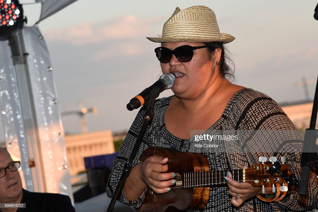 Singer <a gi-track='captionPersonalityLinkClicked' href=/galleries/search?phrase=Paula+Fuga&family=editorial&specificpeople=5152382 ng-click='$event.stopPropagation()'>Paula Fuga</a> performs during the NAMM TurnAround Arts Artist Reception at Nelson Mullins on May 24, 2016 in Washington DC.