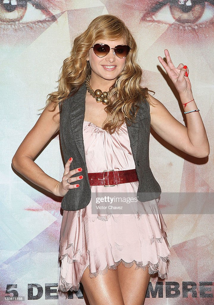 Singer Paulina Rubio attends a photocall and press conference to promote her new album 'Brava' at the Hotel Nikko Polanco on November 14, 2011 in Mexico City, Mexico.