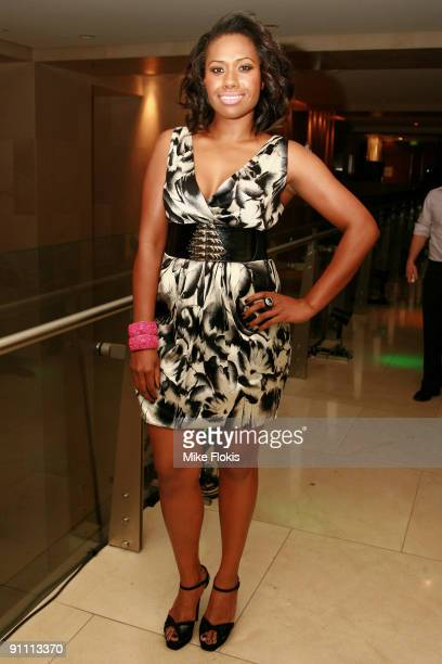 Singer Paulini arrives at the Zeta Bar's 4th Birthday Anniversary Party at the Hilton Hotel on September 24 2009 in Sydney Australia