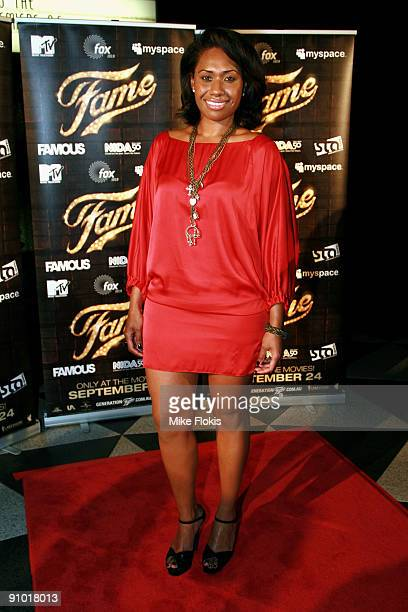 Singer Paulini Curuenavuli arrives for the world premiere of 'Fame' at the Dendy Opera Quays on September 22 2009 in Sydney Australia