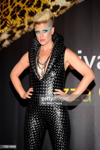 Singer Peaches attends a photocall during the 66th Locarno Film Festival on August 14 2013 in Locarno Switzerland