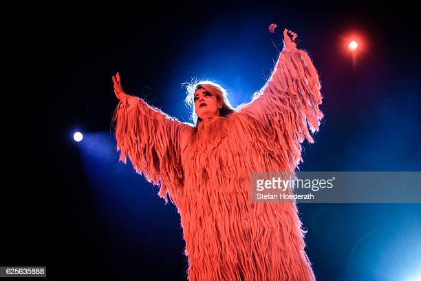 Singer Peaches performs live on stage during a concert at Columbiahalle on November 24 2016 in Berlin Germany