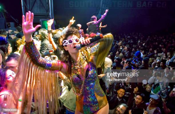 Singer Peaches rings in the new year at HARD New Years Eve on December 31 2007 in Los Angeles California