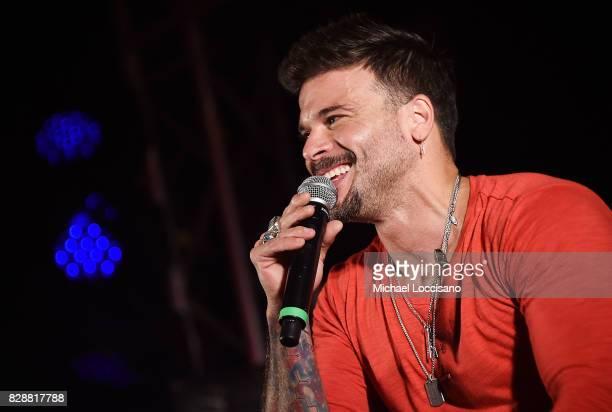 Singer Pedro Capo performs during HBO Latino x Pedro Capo En Letra de Otro at La Marina Restaurant Bar Beach Lounge on August 9 2017 in New York City