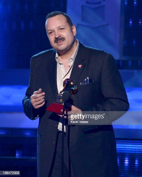 Singer Pepe Aguilar accepts the Best Ranchero Album award onstage during the 13th annual Latin GRAMMY Awards held at the Mandalay Bay Events Center...