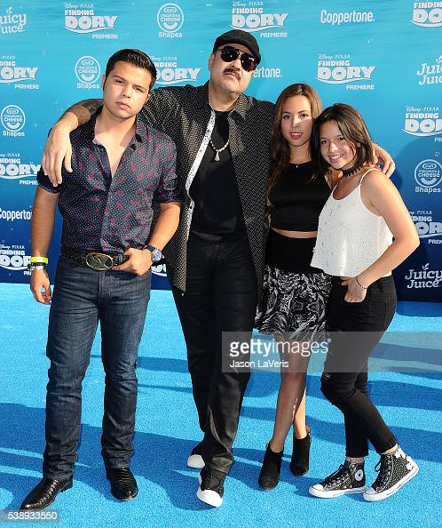 Singer Pepe Aguilar and family attend the premiere of 'Finding Dory' at the El Capitan Theatre on June 8 2016 in Hollywood California