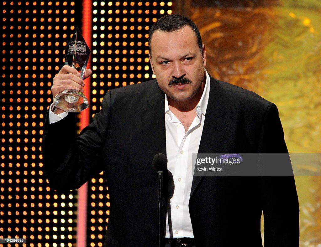 Singer <a gi-track='captionPersonalityLinkClicked' href=/galleries/search?phrase=Pepe+Aguilar&family=editorial&specificpeople=2496118 ng-click='$event.stopPropagation()'>Pepe Aguilar</a> receives the Legado Musical award at the Billboard Mexican Music Awards presented by State Farm on October 18, 2012 in Los Angeles, California.