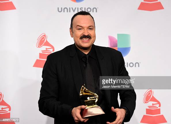 Singer Pepe Aguilar winner of the Latin Grammy Award for Best Ranchero Album 'Lastima Que Sean Ajenas' attends the 15th Annual Latin GRAMMY Awards at...