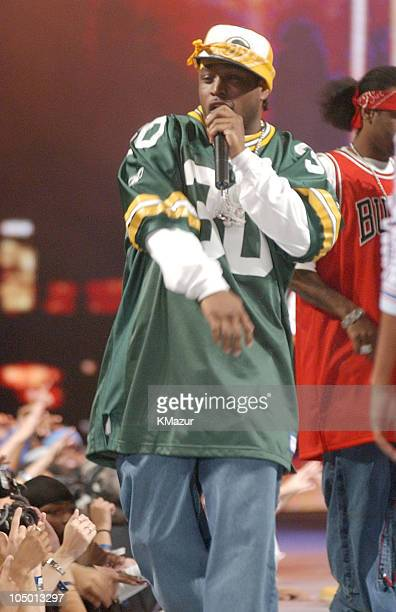 Singer performing with Cam'ron during 2002 MTV's 'Fashionably Loud' Show at Roseland in New York City New York United States