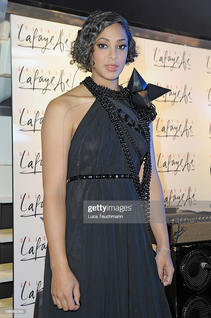 singer performs at Les Galeries Lafayettes Re-Open Ground Floor on November 14, 2012 in Berlin, Germany.
