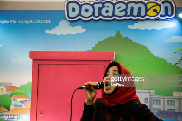 A singer performs on stage during the C3AFA event in Jakarta Indonesia on 19 August 2017 C3AFA is 6th Japanese popculture event The scale has...
