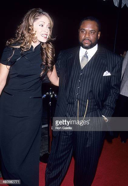 Singer Perri 'Pebbles' Reid and record exeuctive LA Reid attend the 37th Annual Grammy Awards PreParty Hosted by Clive Davis and Arista Records on...