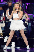 Singer Perrie Edwards of Little Mix performs onstage during the Teen Choice Awards 2015 at the USC Galen Center on August 16 2015 in Los Angeles...