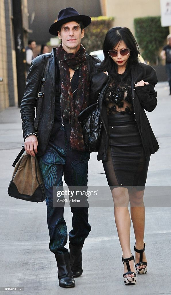 Singer Perry Farrell and Etty Lau Farrell are seen on October 30 2013 in Los Angeles California