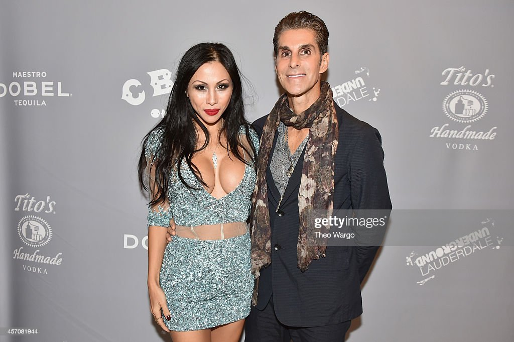 Singer Perry Farrell of Jane's Addiction and wife Etty Lau Farrell attend the CBGB Music Film Festival 2014 as CBGB Presents Jane's Addiction with...