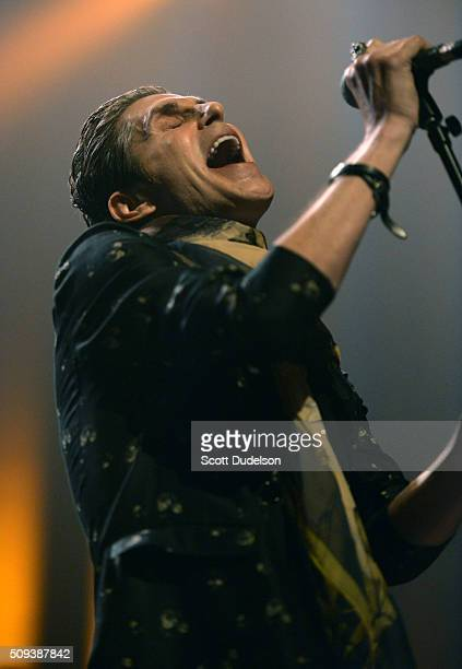 Singer Perry Farrell of Janes Addiction performs onstage at The Fonda Theatre on February 9 2016 in Los Angeles California