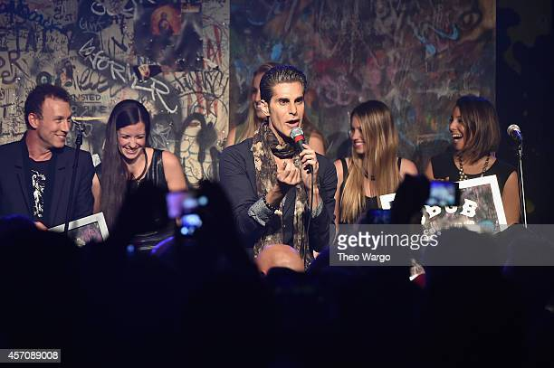 Singer Perry Farrell of Jane's Addiction speaks onstage during the CBGB Music Film Festival 2014 as CBGB Presents Jane's Addiction with the CBGB Icon...