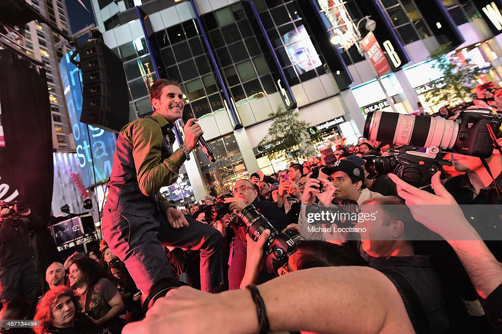 Singer Perry Farrell performs with Jane's Addiction at CBGB Music Film Festival 2014 Times Square Concerts on October 12 2014 in New York City