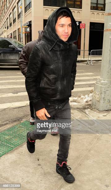 Singer Pete Wentz is seen Walking in Soho on January 31 2014 in New York City