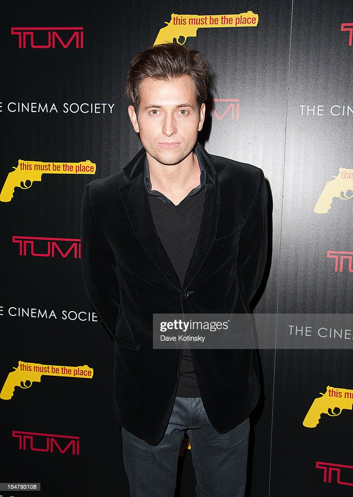 Singer Peter Cincotti attends The Weinstein Company With The Cinema Society And Tumi Host A Screening Of 'This Must Be the Place' at Tribeca Grand Hotel on October 25, 2012 in New York City.