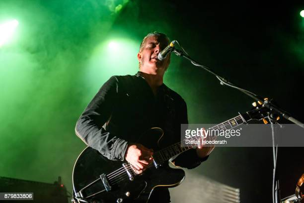 Singer Peter Hayes of Black Rebel Motorcycle Club performs live on stage during a concert at Columbiahalle on November 25 2017 in Berlin Germany
