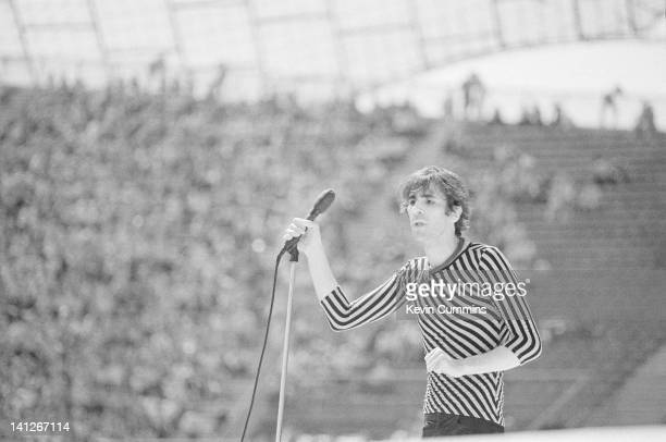 Singer Peter Wolf performing on stage with The J Geils band Munich West Germany 10th June 1982