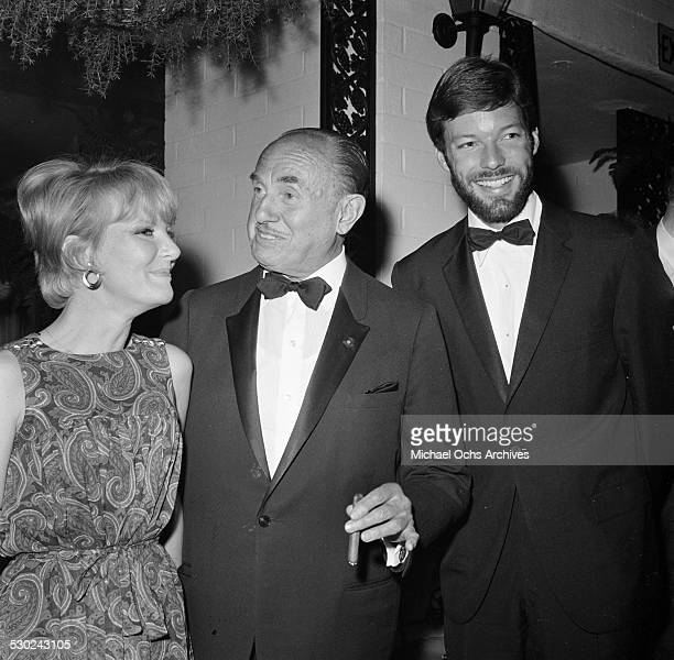 Singer Petula Clark Movie Executive Jack Warner and actor Richard Chamberlain attend an event in Los AngelesCA