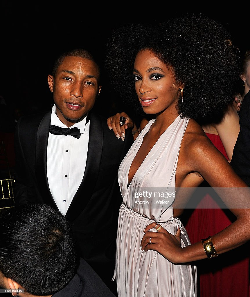 Singer <a gi-track='captionPersonalityLinkClicked' href=/galleries/search?phrase=Pharrell+Williams&family=editorial&specificpeople=161396 ng-click='$event.stopPropagation()'>Pharrell Williams</a> and <a gi-track='captionPersonalityLinkClicked' href=/galleries/search?phrase=Solange+Knowles&family=editorial&specificpeople=221489 ng-click='$event.stopPropagation()'>Solange Knowles</a> attend the DKMS' 5th Annual Gala: Linked Against Leukemia honoring Rihanna & Michael Clinton hosted by Katharina Harf at Cipriani Wall Street on April 28, 2011 in New York City.