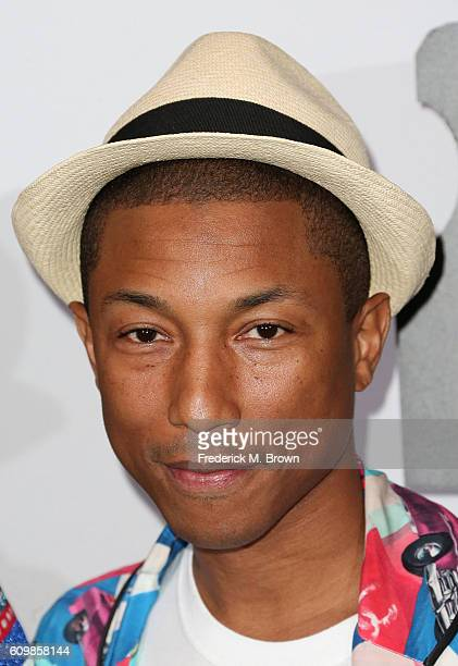 Singer Pharrell Williams attends Chanel Dinner Celebrating N 5 L'Eau at the Sunset Tower Hotel on September 22 2016 in West Hollywood California