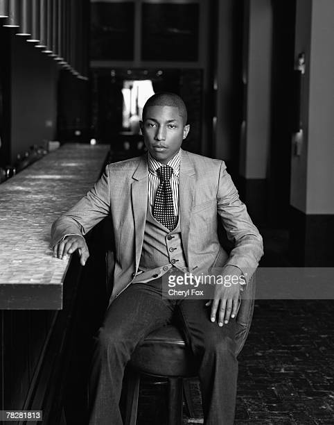 Singer Pharrell Williams poses at a portrait session in Miami Florida