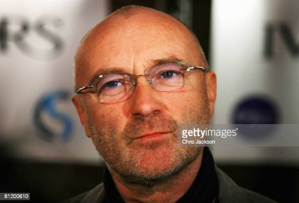Singer Phil Collins arrives at the 53rd Ivor Novello Awards At the Dorchester Hotel on May 22 2008 in London England
