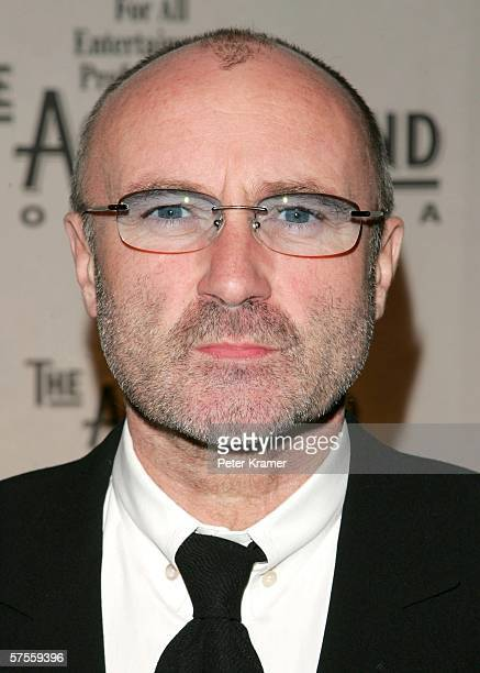 Singer Phil Collins attends The Actors Fund of America annual gala at Cipriani's 42nd street on May 8 2006 in New York City