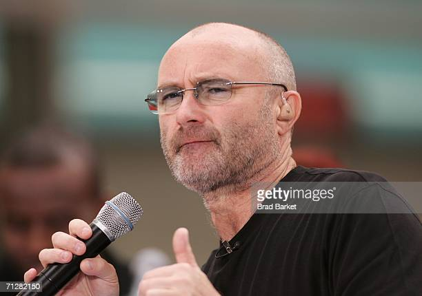 Singer Phil Collins performs on the NBC 'Today' show during the Toyota Concert Series on June 23 2006 in New York City
