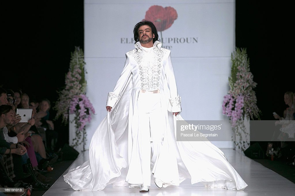 Singer Philipp Kirkorov on the runway at the Elena Souproun show during Mercedes-Benz Fashion Week Russia Fall/Winter 2013/2014 at Manege on April 1, 2013 in Moscow, Russia.