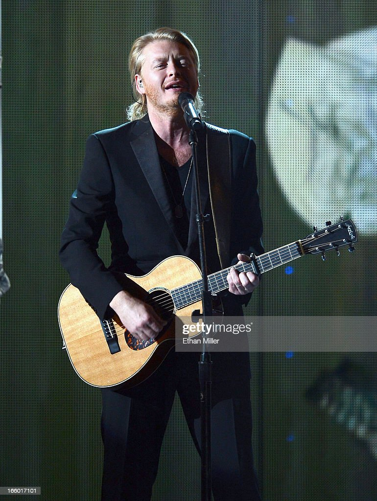 Singer Phillip Sweet of Little Big Town performs onstage during the 48th Annual Academy of Country Music Awards at the MGM Grand Garden Arena on April 7, 2013 in Las Vegas, Nevada.