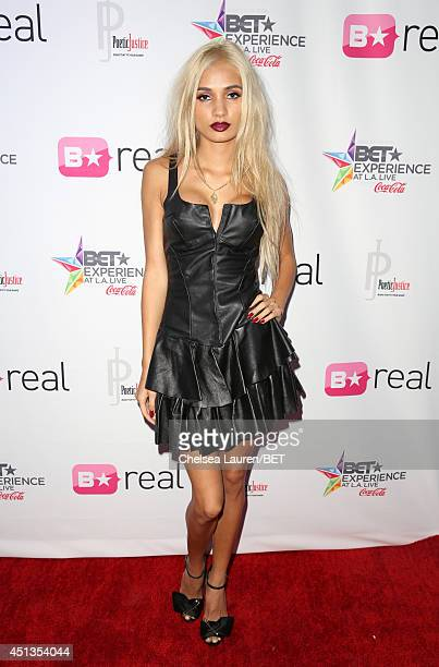 Singer Pia Mia attends the fashion show presented by Pantene and Poetic Justice Jeans during the 2014 BET Experience At LA LIVE on June 27 2014 in...