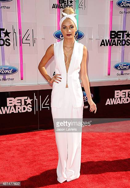 Singer Pia Mia Perez attends the 2014 BET Awards at Nokia Plaza LA LIVE on June 29 2014 in Los Angeles California