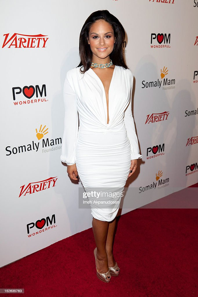 Singer Pia Toscano attends a 'Life Is Love' event hosted by AnnaLynne McCord benefitting The Somaly Mam Foundation on September 22, 2012 in Los Angeles, California.