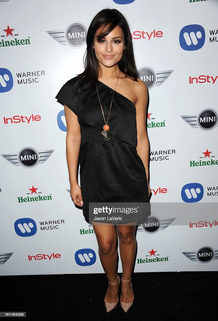 Singer Pia Toscano attends the Warner Music Group 2013 Grammy celebration at Chateau Marmont on February 10, 2013 in Los Angeles, California.