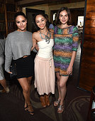 Singer Pia Toscano Cara Santana and Jen Missoni attend The Glam App's Glamchella at the Petit Ermitage on April 7 2015 in Los Angeles California
