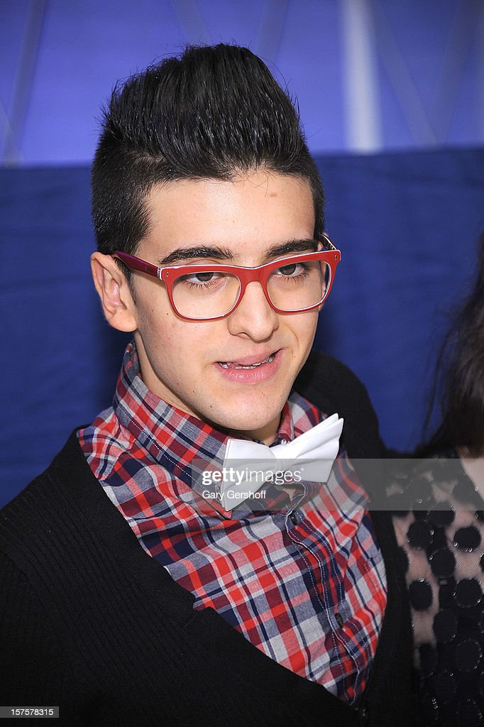 Singer Piero Barone of ll Volo seen at jetBlue Terminal 5 at JFK Airport on December 4, 2012 in New York City.