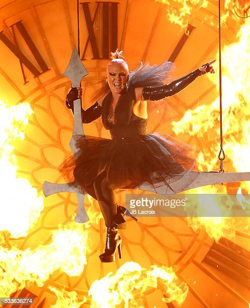 Singer Pink aka Alecia Beth Moore is seen on stage during the 2016 Billboard Music Awards held at the TMobile Arena on May 22 2016 in Las Vegas Nevada