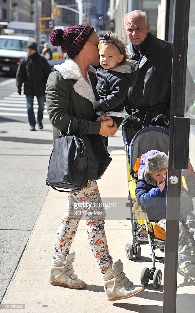 Singer Pink and her daughter Willow Sage as seen on March 22, 2013 in New York City.