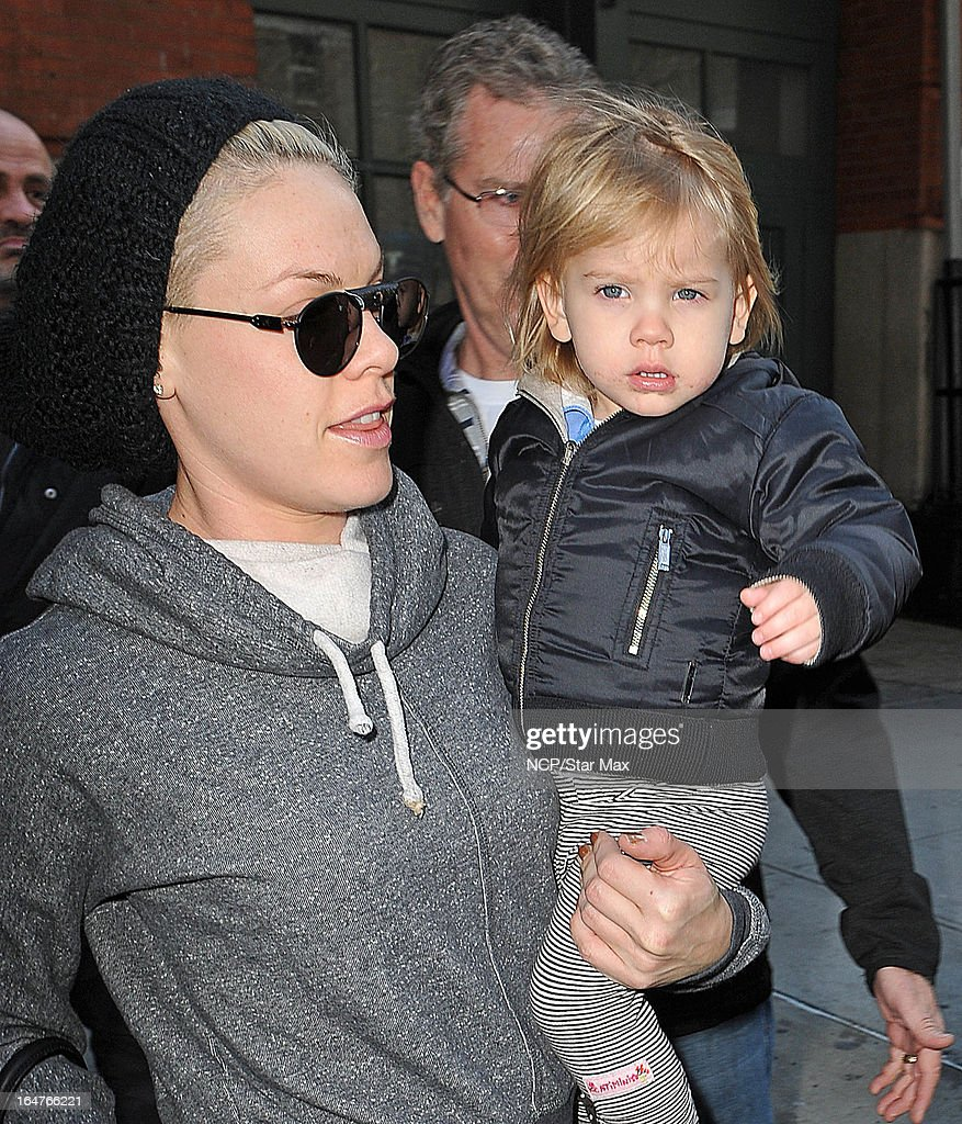 Singer Pink and her daughter Willow Sage as seen on March 26, 2013 in New York City.
