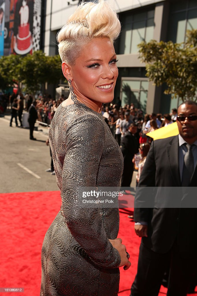 Singer Pink arrives at the 2012 MTV Video Music Awards at Staples Center on September 6 2012 in Los Angeles California