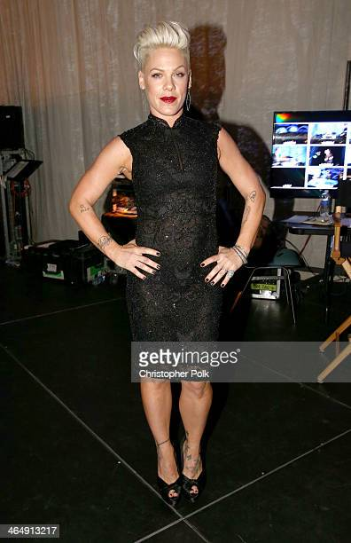Singer Pink attends 2014 MusiCares Person Of The Year Honoring Carole King at Los Angeles Convention Center on January 24 2014 in Los Angeles...