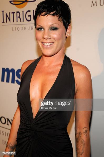 Singer Pink attends the 2008...